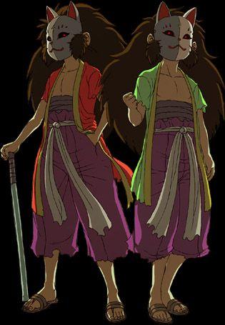 The twins from Kakurenbo, Immu and Yanku