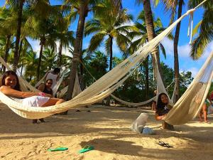 Resting in hammocks at Xel-Ha