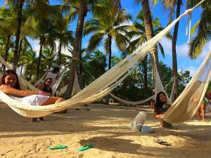 Resting in hammocks at Xel-Ha